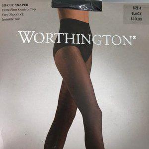 Worthington Hi-Cut Shaper Extra Firm Control Top